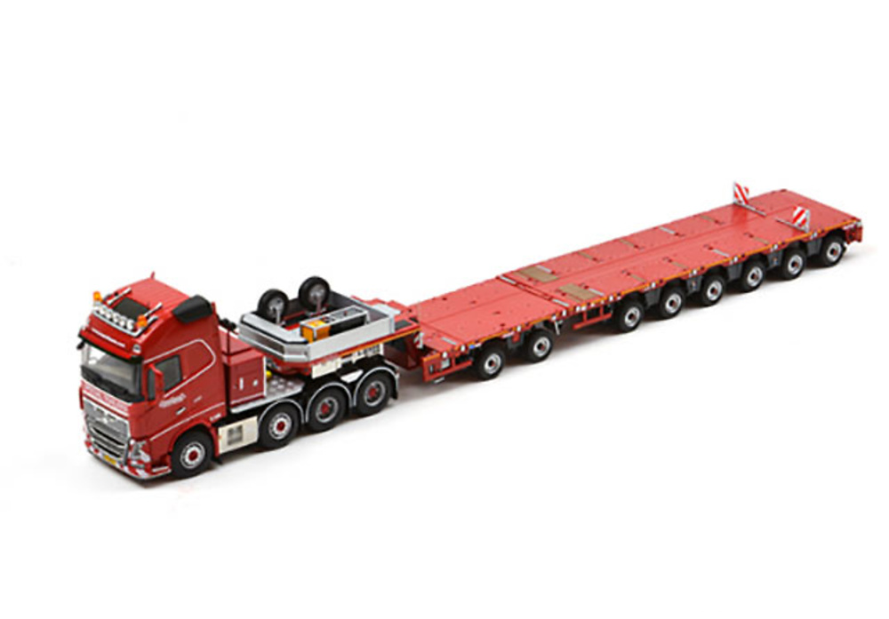 MULTI-PX 2+6 module semi low-loader with Volvo FH 8x4 Tonkin Replicas 527.49.94 escala 1/50