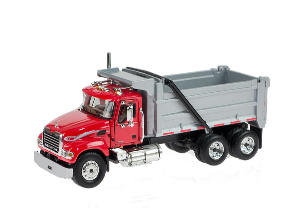 Mack Granite con dumper rojo First Gear escala 1/64