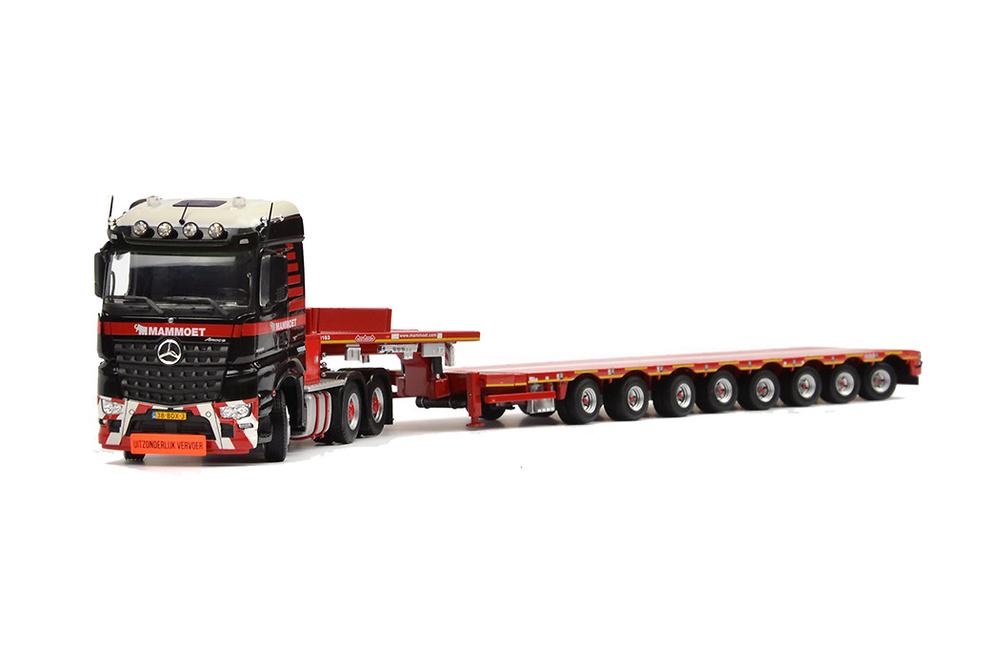 Mammoet MB Arocs 6x4 + Cama baja 8 ejes + soporte pluma 11200 Tonkin 410088
