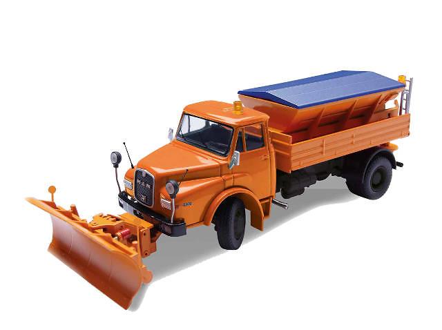 Man HAK 19.241 Hauber con quitanieves Conrad Modelle 1053 escala 1/50