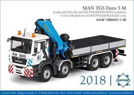 Man Tgs Euro 5 + Palfinger PK 53002 SH Bok Seng Conrad Modelle