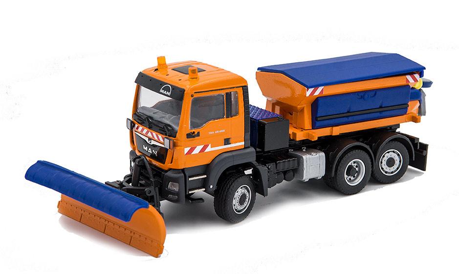 Man Tgs Euro 6x4 + quita nieves Conrad Modelle escala 1/50
