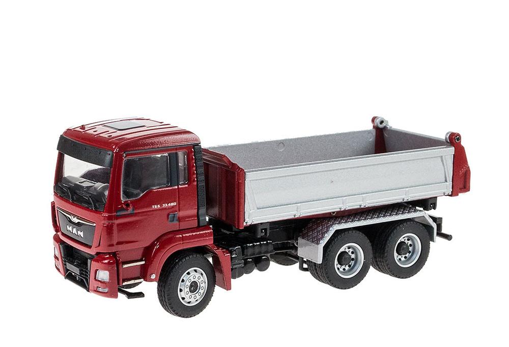 Man Tgs M Euro 6 con caja Meiller volquete en 3 direcciones Conrad Modelle escala 1/50