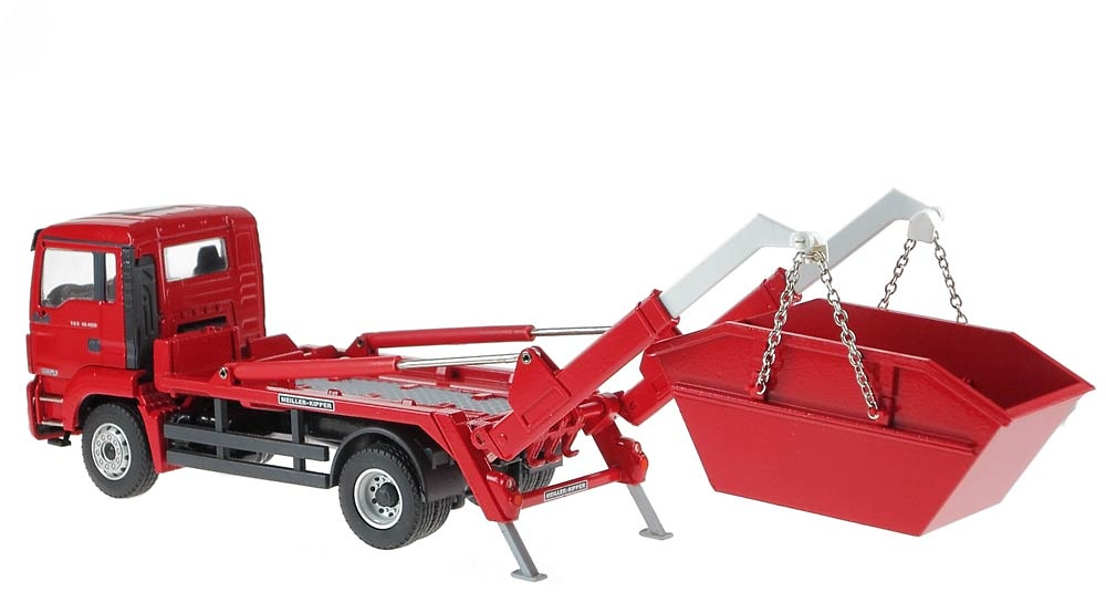 Man Tgs M Euro 6 mit Meiller contenedor Conrad Modelle 77216 escala 1/50