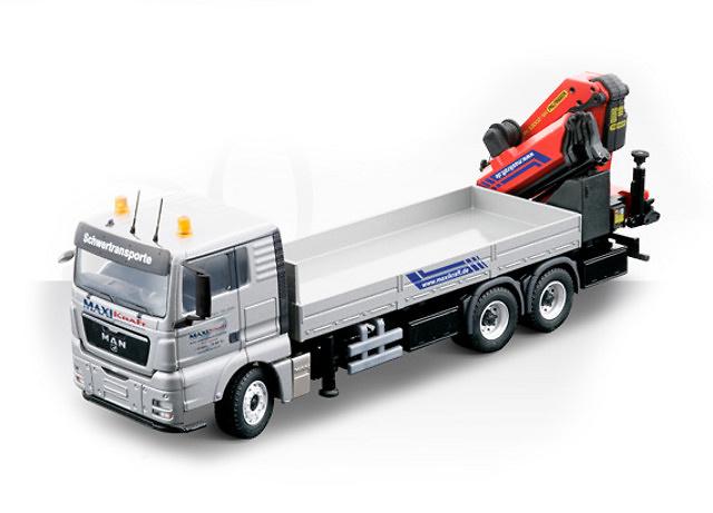 Man Tgx 3-ejes con grua Palfinger PK530002 SH, Conrad Modelle 1/50 70204