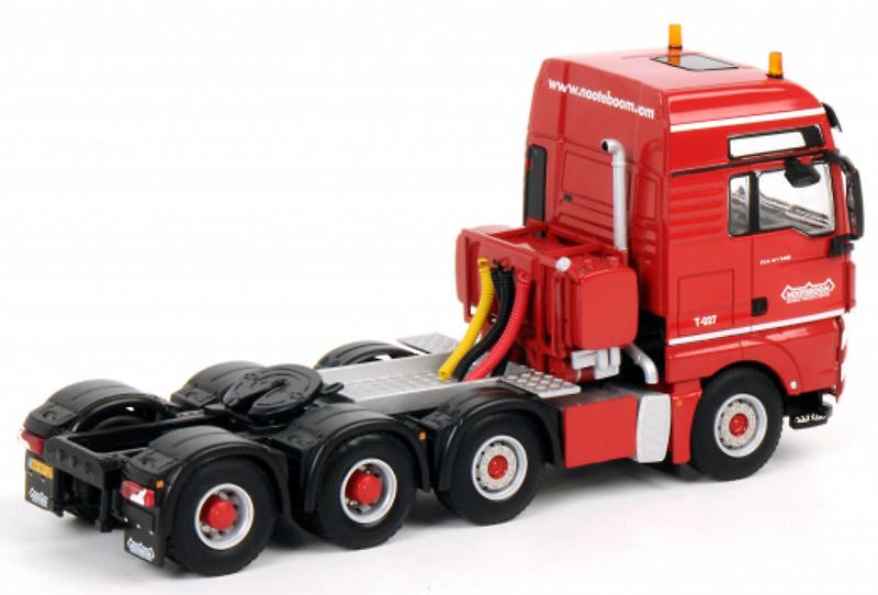 Man Tgx 8x4 red line nooteboom, Wsi Model 1/50