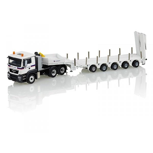 Man Tgx Lx 6x4 con plataforma 5 ejes Cardem, Conrad Modelle 71172/01 escala 1/50