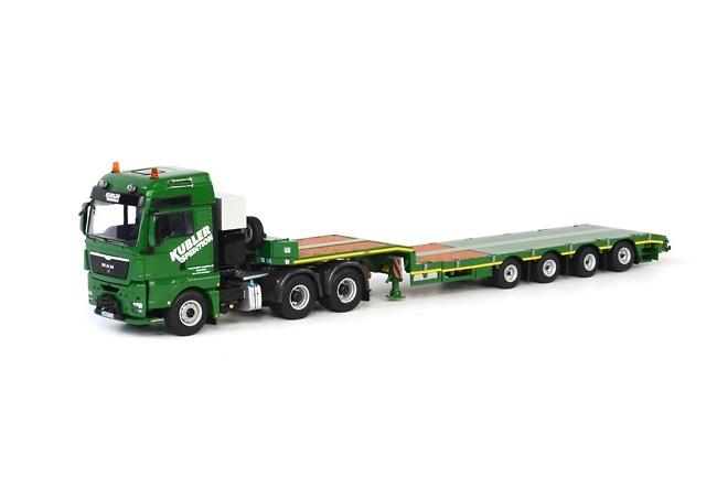 Man Tgx Xxl Broshuis plataforma baja Wsi Models 01-1521 escala 1/50