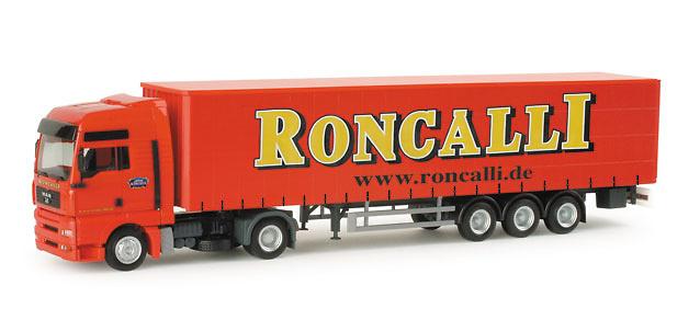 Man Tga xxl tautliner Circus Roncalli Herpa 155892