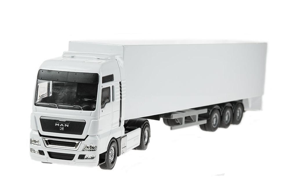 Man V8 con Trailer caja cerrada Joal 395_a escala 1/50