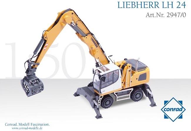 Manipuladora Liebherr LH 24, Conrad Modelle 2947 escala 1/50