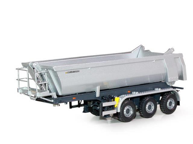 Meiler semiremolque volquete tipo bañera 3 ejes, Tekno 60590 escala 1/50