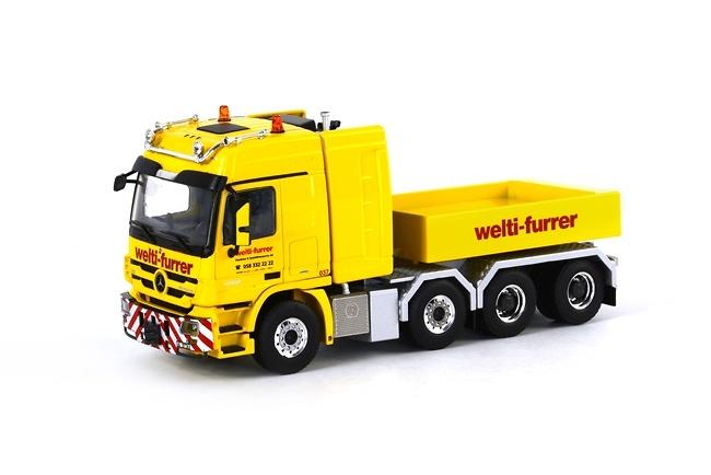 Mercedes Actros Ballast Box Welti-Furrer Wsi Models 01-1018 escala 1/50