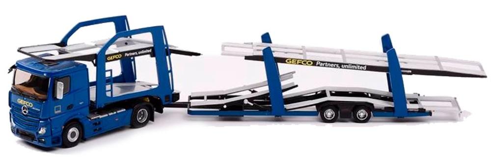 Mercedes Actros Transporte Coches Gefco Eligor 116270 escala 1/43