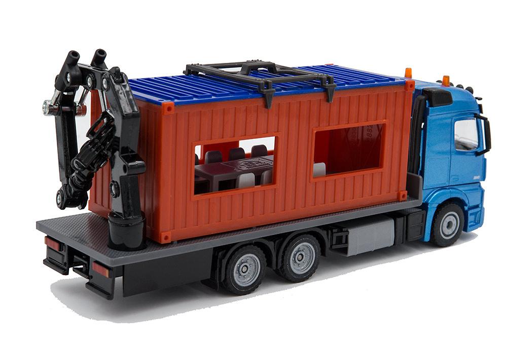 Mercedes Actros con grua + carga contenedor obra Siku 3556 escala 1/50