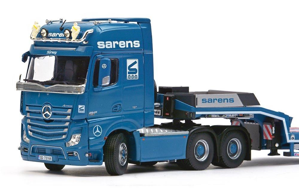 Mercedes Actros2 GigaSpace 6x4 + Euroflex semi cama baja - Sarens - Imc Models
