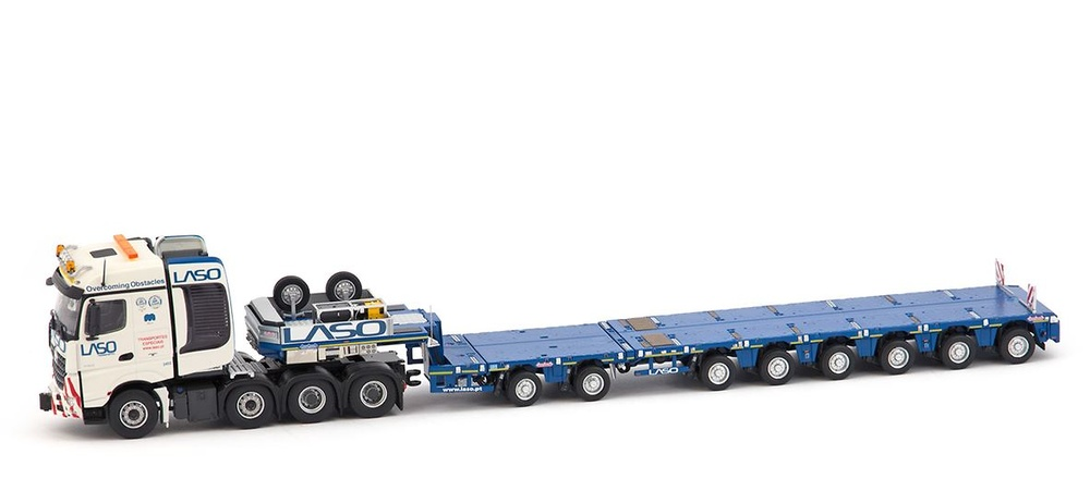 Mercedes Arocs Big Space + Nooteboom MCO-PX Laso Transporte Imc Models