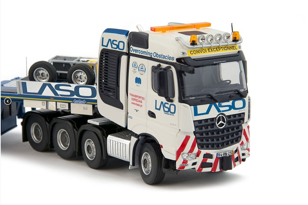 Mercedes Arocs Big Space + Nooteboom MCO-PX 2+6 Laso Transportes Imc Models