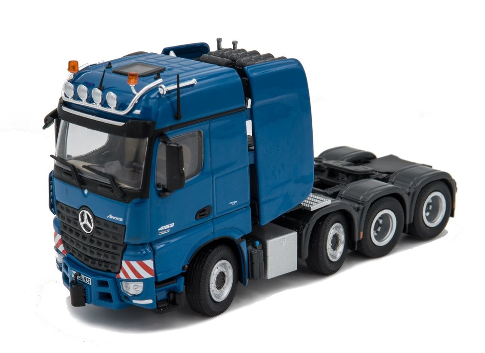 Mercedes Benz Actros Big space SLT azul Nzg Modelle 937 escala 1/50