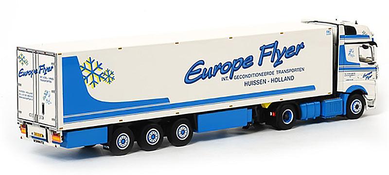 Mercedes-Benz Actros Giga Space Frigo Thermoking Europe Flyer Wsi Models 1450 escala 1/50