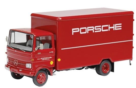 Mercedes Benz LP 608 Porsche caja cerrada, Schuco 1/87