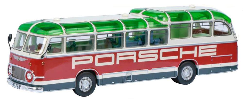 Neoplan FH 11 Porsche Servicio Tecnico de carreras Schuco 450896600 escala 1/43