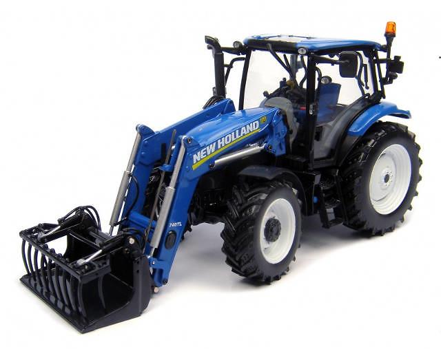 New Holland T6.140 con cargadora Universal Hobbies 4232 escala 1/32