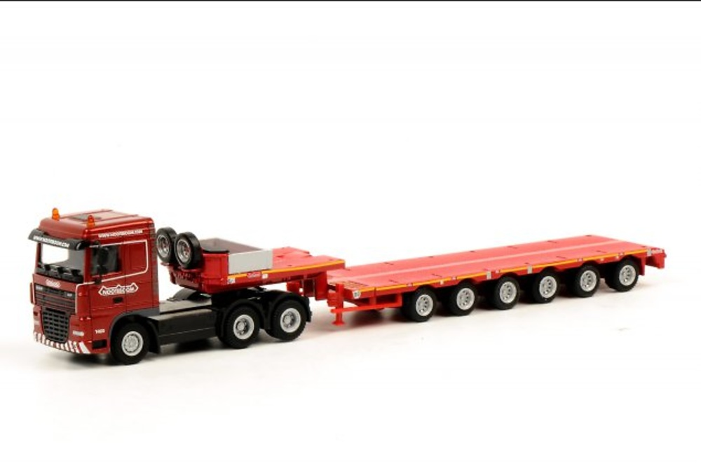 Nooteboom 6-axle semi low-loader + DAF XF 105 6x4, Wsi Models 1/87