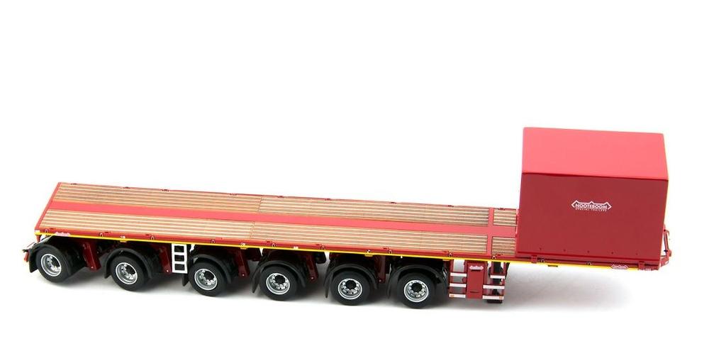 Nooteboom Ballasttrailer 6-ejes + contenedor Imc Models 1/50