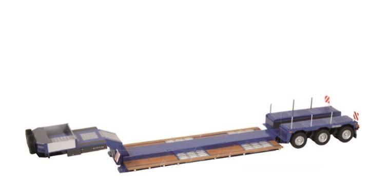 Nooteboom Pendel X 3 ejes azul Nzg Modelle 655/20 escala 1/50