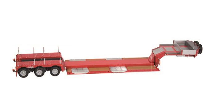 Nooteboom Pendel X 3 ejes rojo Nzg Modelle 655/10 escala 1/50