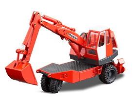 Poclain TY 45 excavadora hidraulica 3 ruedas Conrad 1/50