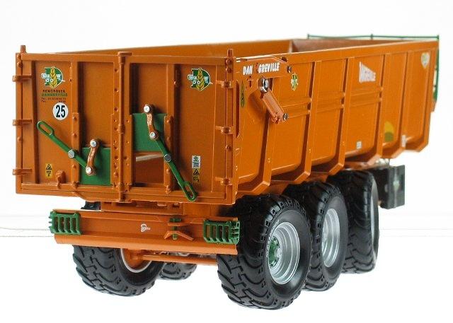 Remolque Dangreville Benne 3 ejes, Ros Argitec 60203 escala 1/32
