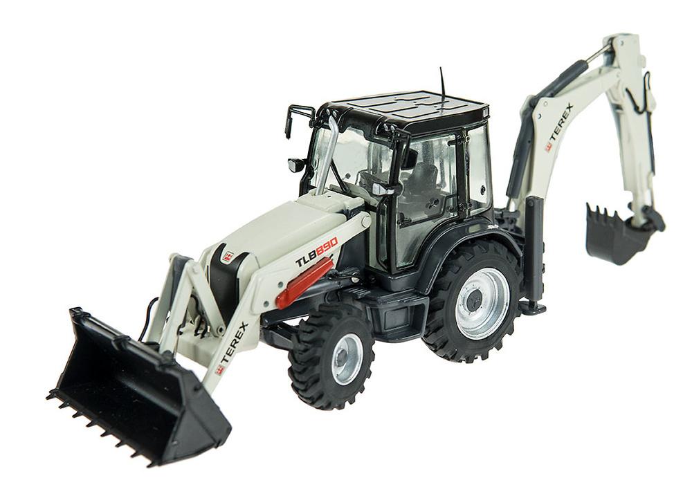 Retro excavadora Terex TLB890 Nzg Modelle 915 escala 1/50