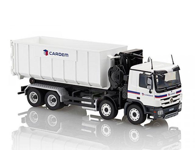 roll off tipper truck con grua cardem conrad modelle 72220. Black Bedroom Furniture Sets. Home Design Ideas