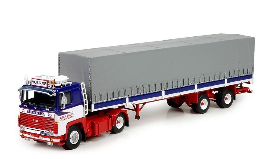 Scania 140 + remolque tautliner Maastrans Tekno 71749 escala 1/50