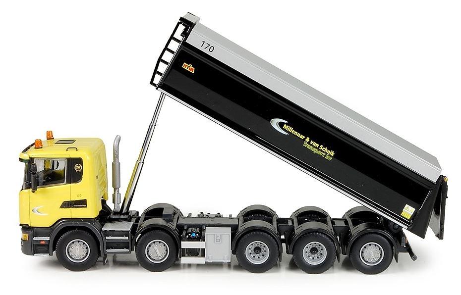 Scania G-serie volquete 5 ejes Millenaar Tekno 72568 escala 1/50