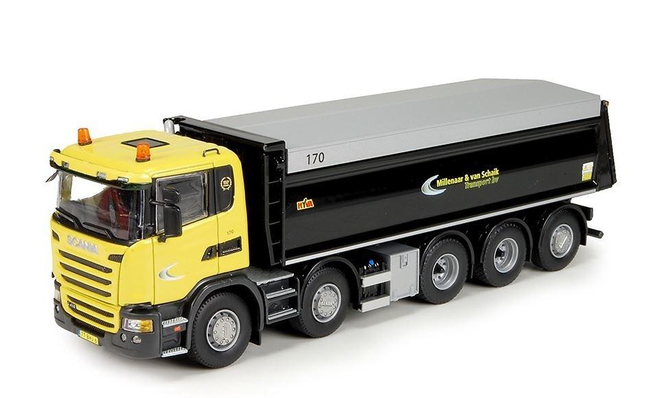 Scania G-serie volquete 5 ejes Millenar Tekno 72568 escala 1/50