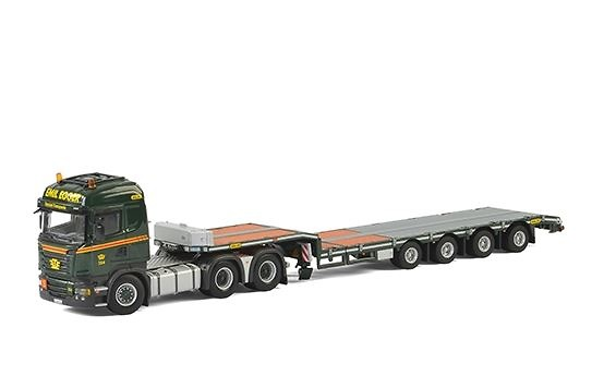 Scania R Streamline Highline + plataforma extensible - Emil Egger Wsi Models escala 1/50