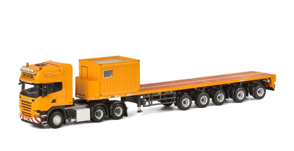 Scania R Streamline Topline + Ballast Trailer + 10 FT Contenedor Wsi Models