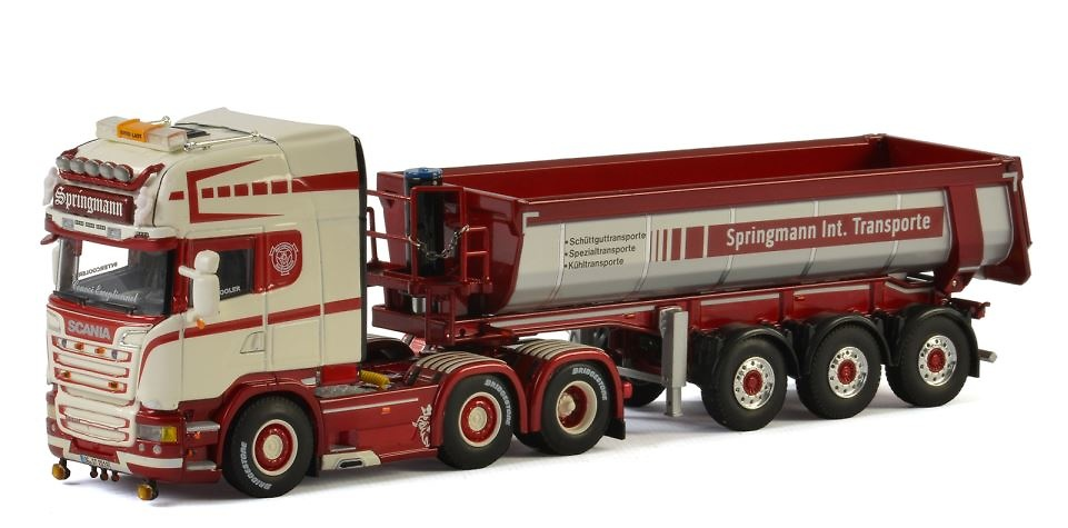 Scania R Streamline + volquete trailer Wsi Models