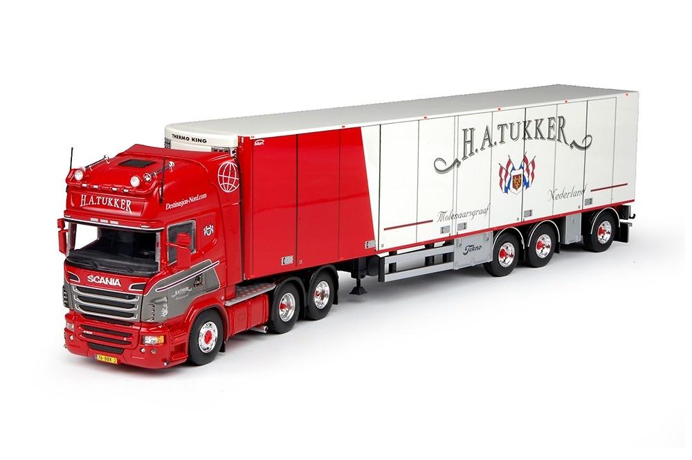 Scania R Topline + frigo Tukker, Tekno 67958 escala 1/50