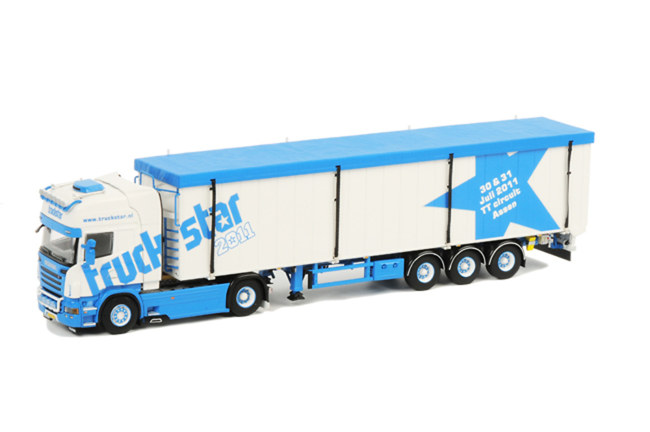 Scania R Topline Cargo Floor Trailer (3 axle) Truckstar 2011, Wsi Collectibles 1/50