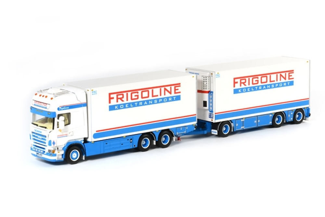 Scania R Topline Frigoline + remolque Wsi Models 01-1440 escala 1/50