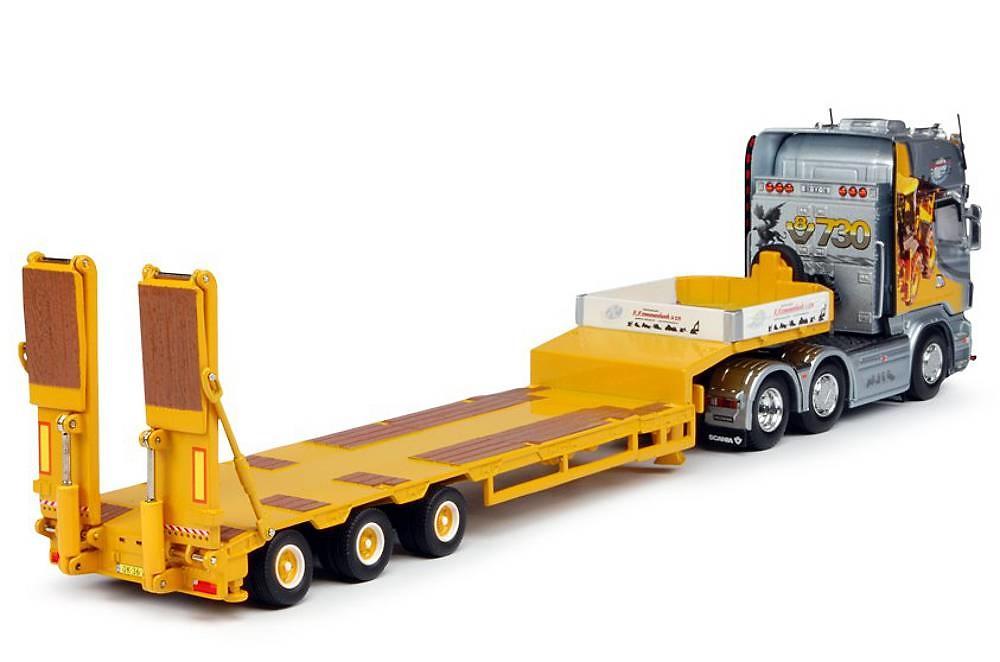 Scania R Topline Con Plataforma Cama Baja Goldhofer Tekno