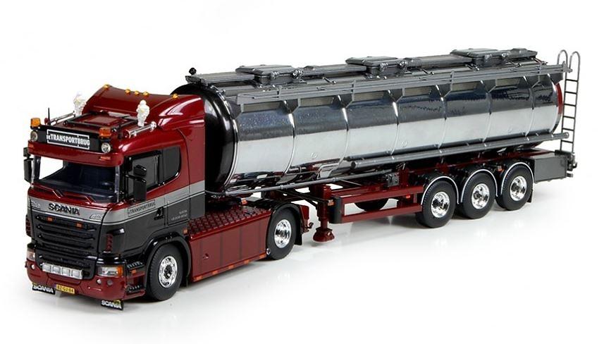 Scania R con cisterna Transportbrug Tekno 73452 Masstab 1/50