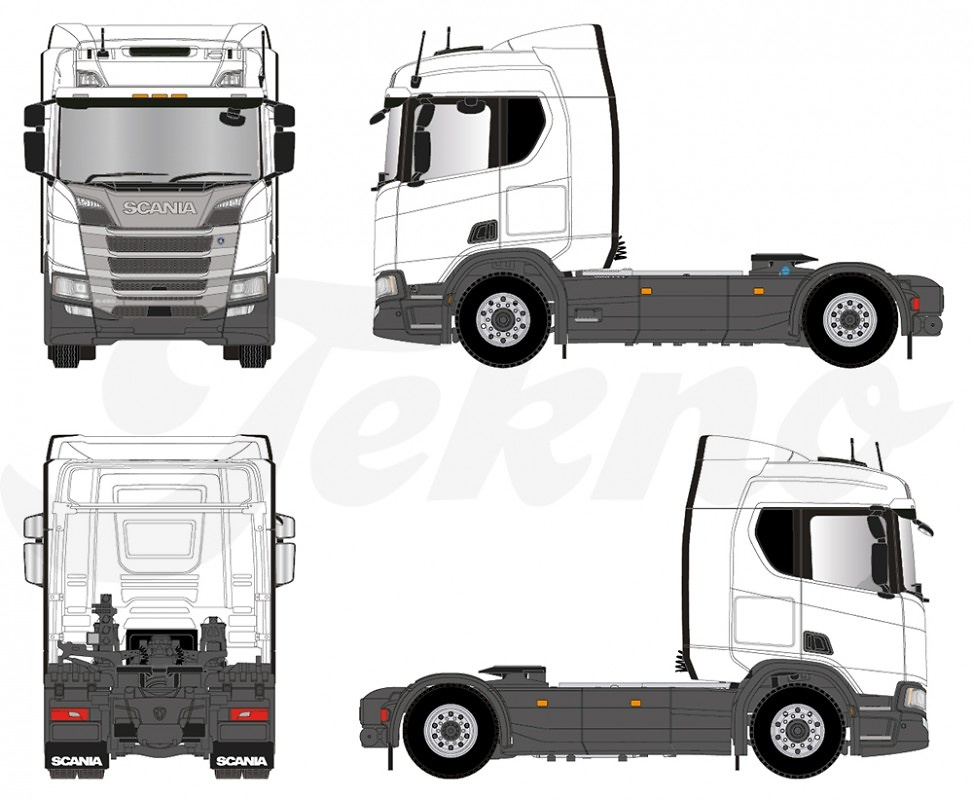 Scania R-serie sleepcabine RHD Tekno 70940 escala 1/50