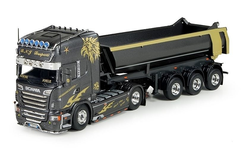 Scania R6 Topline + semi volquete Tekno 68975 escala 1/50
