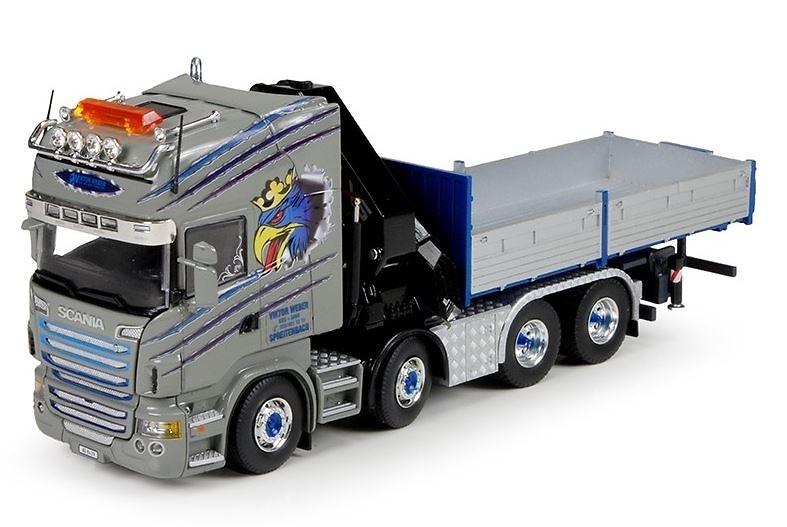 Scania R6 Topline con grua Hiab Tekno 65229 escala 1/50