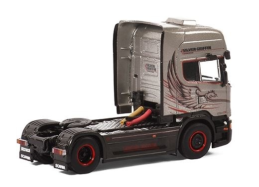 Scania R730 V8 Streamline Topline - Silver Griffin - Wsi Models 04-1178
